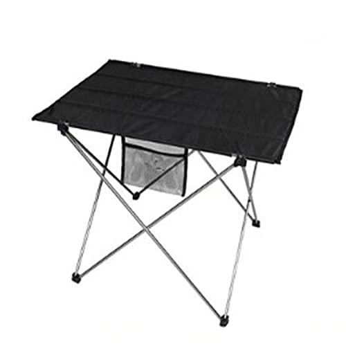 Mesa de Camping Portátil Mesas y sillas Plegables al Aire Libre Luz Portátil Camping Pasteles Picnic Barbacoa Taburete Mesa Configuración Rápida (Color : Black, Size : 42.5x56.6x39cm)