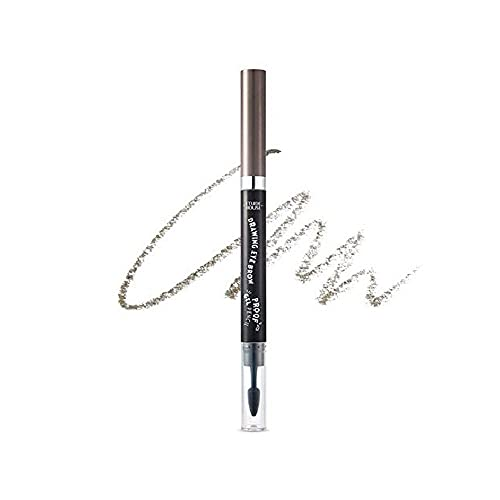 Etude House Drawing Eye Brow Proof Gel Pencil (#05 Grey Brown)   Waterproof Eyebrow Pencil   Natural Eyebrows that Last For a Long Time