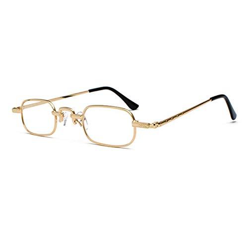 UKKD Gafas de sol cuadradas de la vendimia para los hombres Metal Sun Gafas de