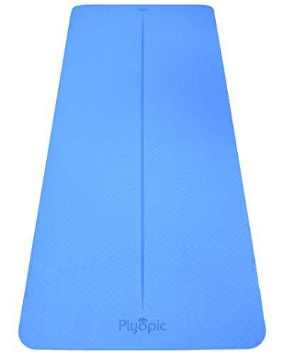 Plyopic Kinder Yogamatte – Leicht, rutschfest, TPE-Übungsmatte. Ideal für Babys, Kleinkinder und Kids. PVC-Frei (150cm x 61cm x 6mm dick)
