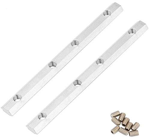Aluminiumprofil, 2020/3030/4040/4545 Serie M5 M6 M8 EU-Standard Kohlenstoffstahl Gerade Innenverbinder Aluminiumprofil(2020 M5 6pcs)