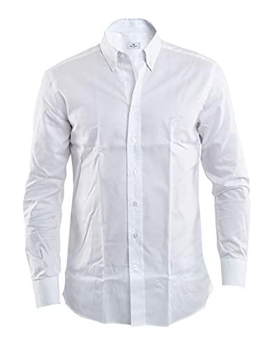 Etro White Button Down Shirt, Hombre, Talla 44.