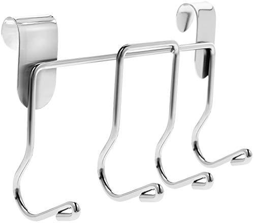 com-four® Grillbesteck-Halter mit 4 Haken, Grillzubehör direkt am Grill aufhängen für alle runden Gasgrills, Holzkohlegrills & Kugelgrills (01 Stück - Besteckhalter)