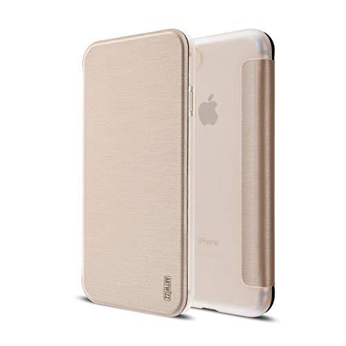 Artwizz SmartJacket Handyhülle geeignet für [iPhone SE (2020) / 8 / 7] - Schutzhülle in gebürsteter Metall-Optik - Gold