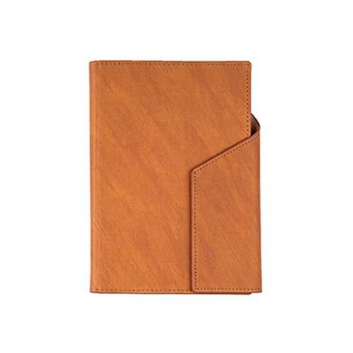 Agenda de oficina, tamaño A5, cuadernos de tela de cuero, retro, con...