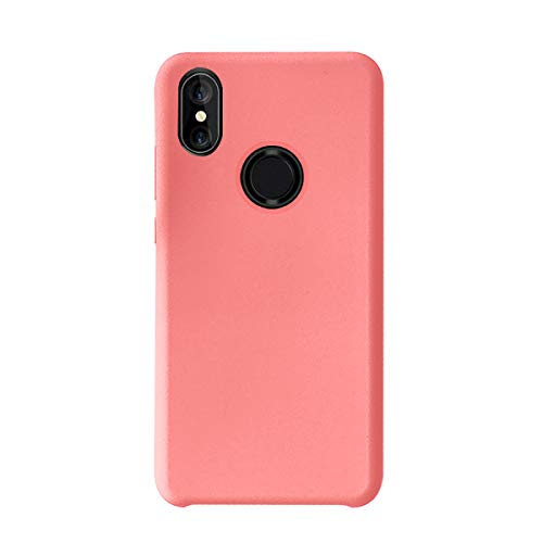 Funda Compatible con Xiaomi Mi MAX 3,Croachi Xiaomi Mi MAX 3 Carcasa Case Silicona Gel Cover TPU Protector Libro Transparente Antigolpes Ultra-Fina-Slim 360 Azul Bumper Suave Flexible (Rosa 2)