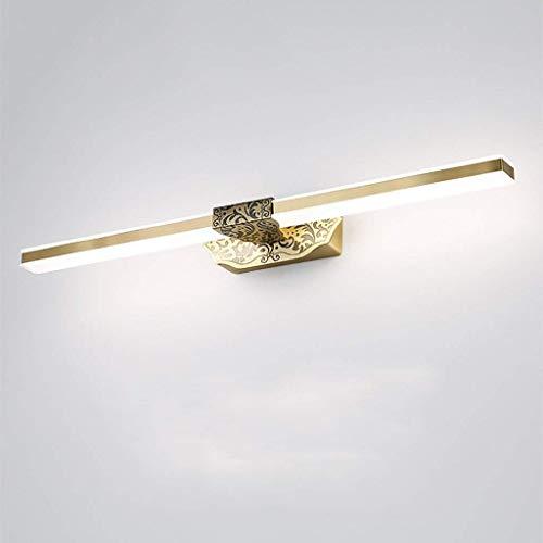 Bronzen Lens Light Vintage Europese badkamerspiegel licht waterdichte LED make-up lamp badkameraccessoires, 14W71cm