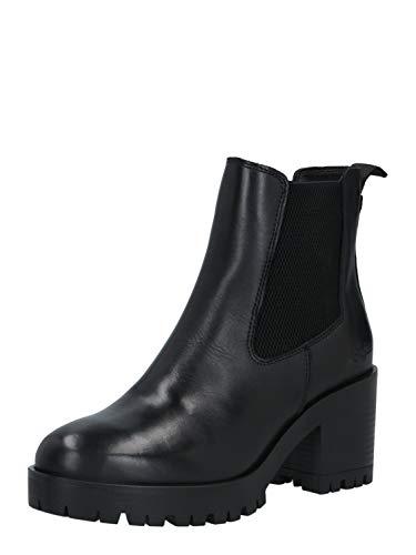 Buffalo Damen Stiefeletten Meera, Frauen Chelsea Boots, Schlupfstiefel hoch Lady Ladies feminin elegant Women's Women,Schwarz(Black),39 EU / 6 UK