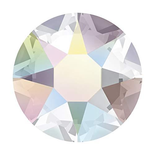 Panini Tessuti Cristales termoadhesivos originales Swarovski Hotfix Rhinestone brillantes colores Crystal y AB (Aurora Boreal) (SS 40, 10 unidades Crystal AB)