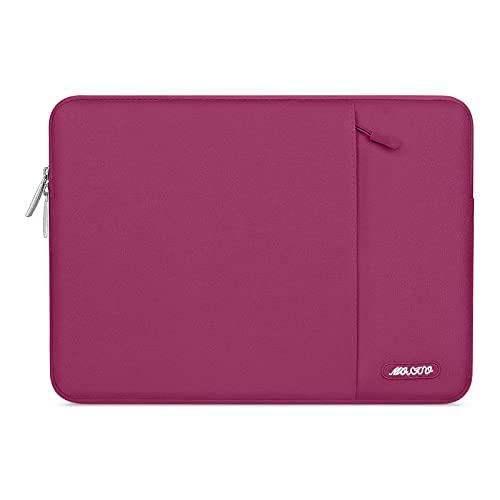 MOSISO Funda Protectora Compatible con iPad Pro 11(3rd Gen) M1 5G,10.9 iPad Air 4,10.2 iPad 8/7,10.5 iPad Air 3, iPad 9.7,Surface Go,Bolsa Blanda de Tableta con Bolsillo Vertical,Vino Rojo