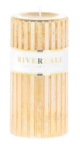 Riverdale - Kaars Venetian goud 7x14cm