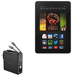 Carregador BoxWave para Kindle Fire HDX 7 (3ª geração 2013), [Carregador de parede sem fio Rejuva (10.000mAh)] Carregador ...
