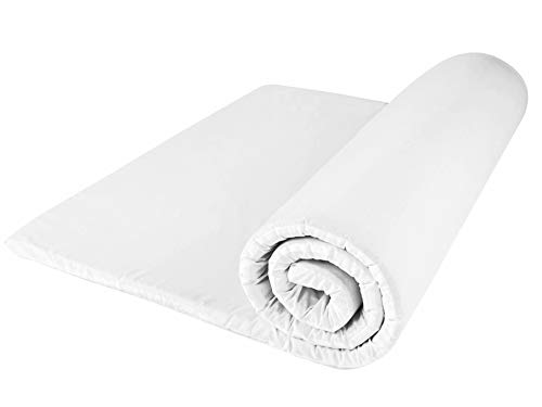 Dreamtime MFDT95938 Heat and Pressure Sensitive Memory Foam Mattress Topper, Single