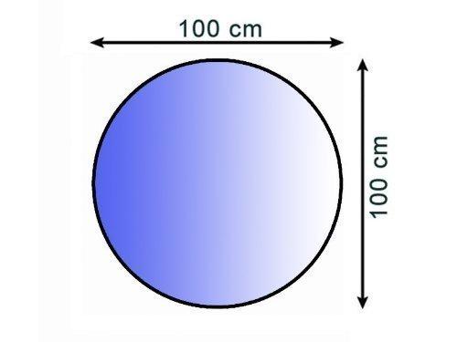Lienbacher® - 21.02.877.2 - Funkenschutzplatte für Kaminofen - Glasplatte 6 mm (Kreis) - mit Facette, klar