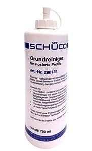Schüco - Limpiador básico para ventanas de aluminio, 750 ml, para elementos de aluminio anodizado