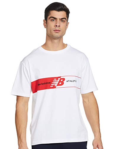 New Balance Herren Nb Athletics Keyline T-Shirt, Blanc, M