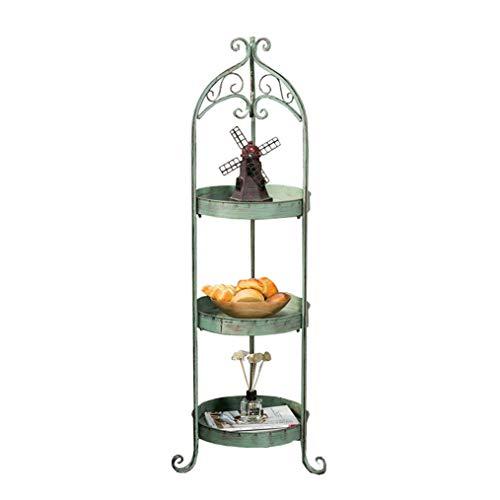 LM eenvoudige en stijlvolle metalen bloemstandaard plantenstandaard, woonkamer slaapkamer veranda TV-kast multi-layer Potted Display Stand, Retro oude industriële stijl rack decoratief frame