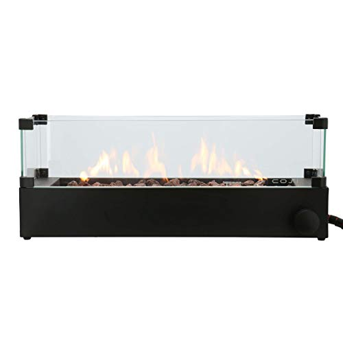 CosiBurner Build Up Table Top Gas Fire Pit with Glass Surround