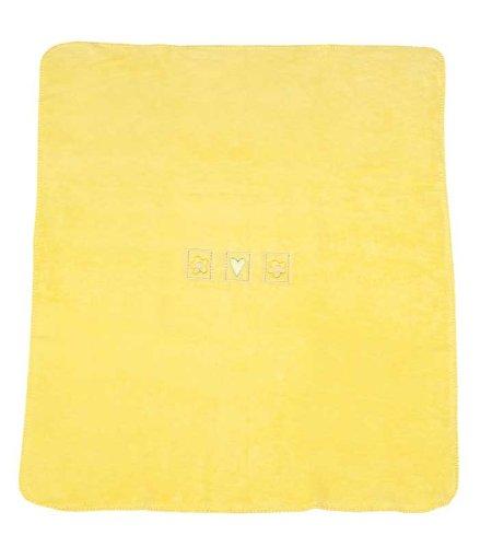 Julius Zöllner 95700-1810 4 - Couverture en coton - jaune - Taille: 75 x 100 cm