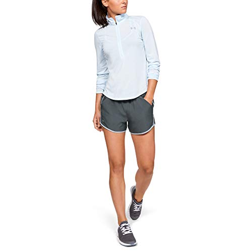 Under Armour Women's Fly By Running Shorts , Grey (043)/Reflective , X-Small