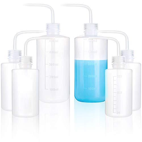 cersaty® 4Pcs Quetschflasche 250ml+2Pcs Spritzflasche 500ml Einstellen,Waschflasche Schmale öffnung für Gartenarbeit Industrie Labor Und Chemie