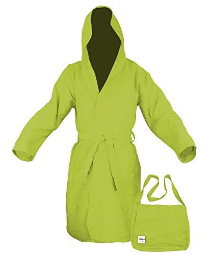 Albornoz de microfibra de color verde. XL