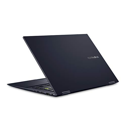 "ASUS VivoBook Flip 14 Thin and Light 2-in-1 Laptop, 14"" FHD Touch Display, AMD Ryzen 5 4500U, 8GB DDR4 RAM, 256GB SSD, Glossy, Stylus, Fingerprint Reader, Windows 10 Home, Bespoke Black, TM420IA-DB51T"