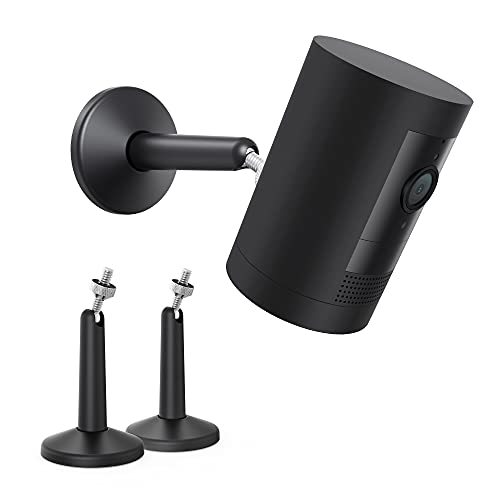 KIWI design Security Camera Mount Bracket, Universal Stylish Metal Wall Mount Fit for Ring, eufy, Wyze, Arlo Cameras and VR Rift Sensor, Vive/Valve Index Base Station Easy to Install (2 Pack, Black)