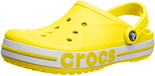 crocs Bayaband Clog Flip Flops Freizeit-und Sportbekleidung Unisex Adult, Multicolor (Zitrone/Weiß), 39 EU