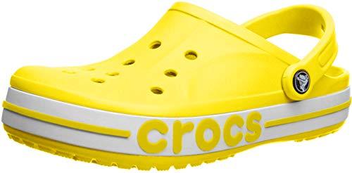 Crocs Herren Bayaband Clog Freizeit Flip Flops und Sportwear Man, Multicolor (Zitrone/Weiß), 43 EU