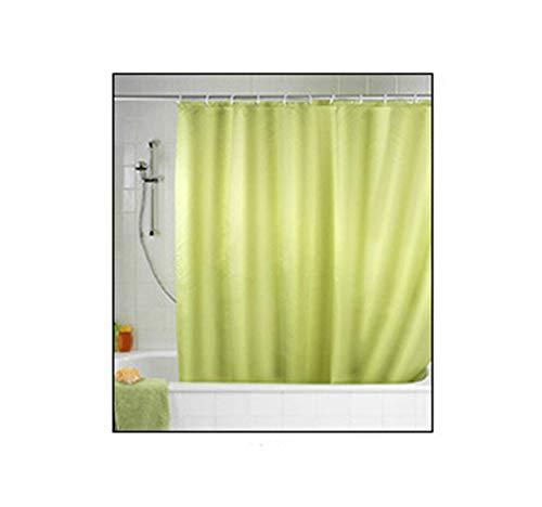 AueDsa Duschvorhang Polyester Antischimmel Duschvorhang Eva Wasserdicht Einfach Hellgrün Duschvorhang Wasserdicht Anti Schimmel 180x180CM