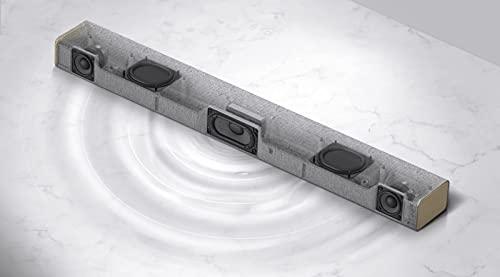 LG Electronics DSP2W Soundbar (100 Watt) mit integriertem Subwoofer (HDMI, Bluetooth), Hellgrau[Modell 2021]