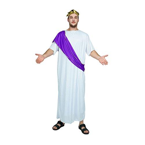 SEA HARE Disfraz de Toga Traje de Emperador Romano para Hombre Adulto