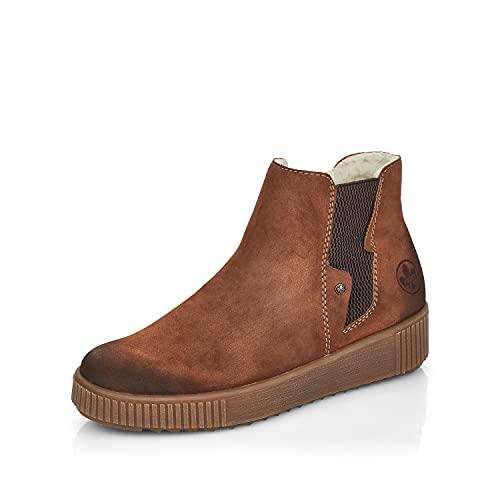 Rieker Damen Chelsea Boots Y6461, Frauen Stiefeletten,Stiefel,Bootee,Booties,halbstiefel,Kurzstiefel,uebergangsschuhe,braun (24),38 EU / 5 UK