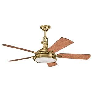 Kichler 300018BAB 56-Inch Hatteras Bay Fan, Burnished Antique...