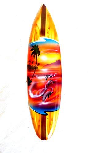 Asia Design Mniatur - Tabla de surf (madera, altura de 30 cm, incluye soporte de madera)