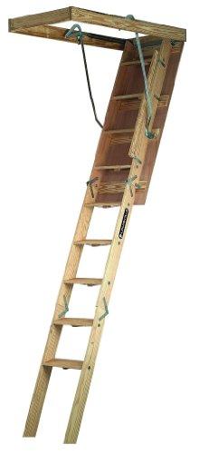 Louisville Ladder CL254P Champion Wood Attic Ladder 300 Pound Capacity