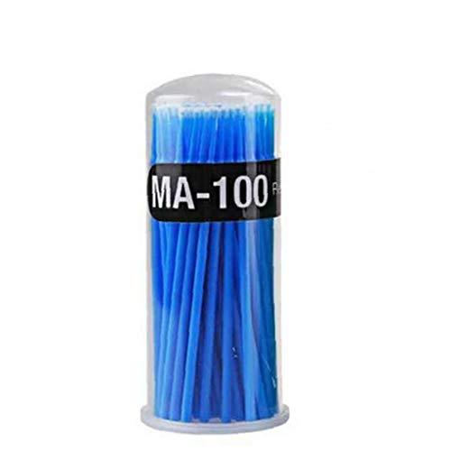 100piece Nettoyage Cils Bâton Spécial Pour Le Maquillage Coton-tige Grand Bleu Cotton Head