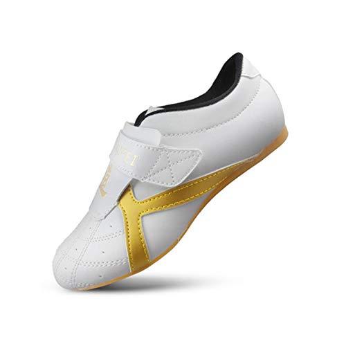 Meng Zapatos de Taekwondo, Artes Marciales, Zapatillas de Deporte, Karate, Kung fu, Zapatos de Tai Chi (Color : White, Size : 20)
