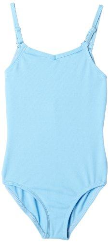 Capezio Big Girls' Team Basic Camisole Leotard W/ Adjustable Straps,Light Blue,L (12-14)