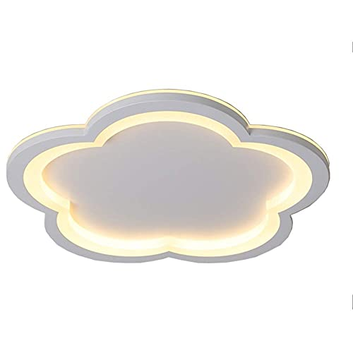 Lámpara LED de techo con forma de pétalos, moderna floral, de metal, acrílico, empotrada, 30 W, lámpara de techo creativa para dormitorio, luz blanca cálida, 10 pulgadas