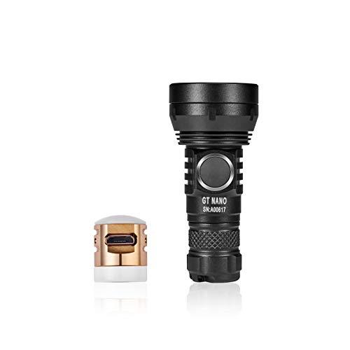 LUMINTOP GT Nano Keychain Flashlight 450 Lumens Mini Flashlight 300 Meters Beam Distance Compact Flashlight Powered by Single 10180 Li-ion Battery (Included)