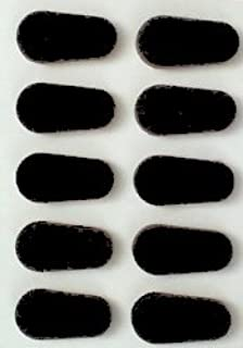 GMS Self Adhesive Soft Foam Nose Pads (1-10 Nose Pads Total, Black)