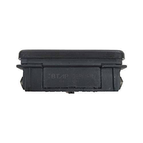 BotóN De Interruptor De Coche Interruptor de Emergencia Riesgo Ligero/Ajuste for BMW 3 5 7 8 Serie M3 M5 E36 E34 E31 Z3 61311374220 61311390722 (Color : Black)