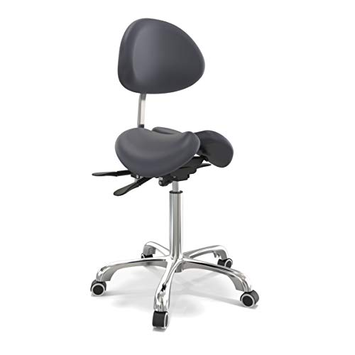 Master Massage Berkeley Sattelstuhl Split-Seat mit Kippoptionen Höhenverstellbar mit Rückenlehne