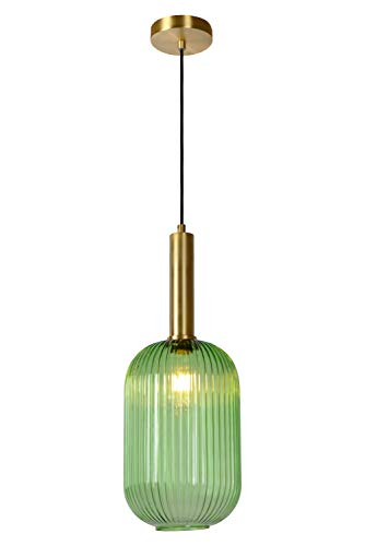 Lucide - Lámpara de techo (40 W, latón satinado), color verde