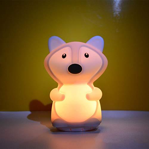 Preisvergleich Produktbild YCEOT Musiklampe Drahtloser Bluetooth-Lautsprecher 9 Farben LED Nachtlicht USB Wiederaufladbare Silikon Tier Schlafzimmer Nachttischlampe