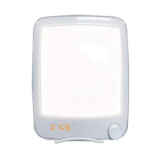 Lowest Prices! Gtest Wake Up Light Therapy Lamp, Dimmable Therapy Energy Light UV-Free 10000 Lux wit...