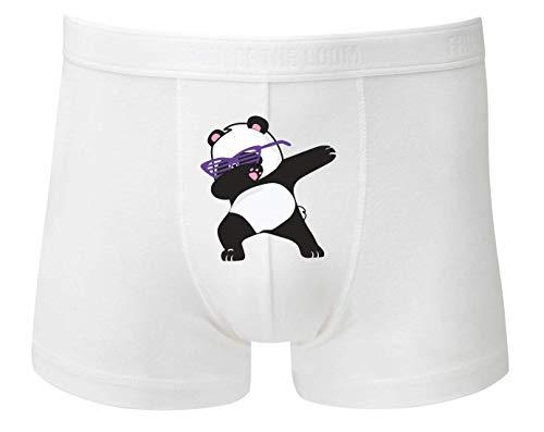 Druckerlebnis24 Boxershort - Panda Bär Brille Tanzen - Unterhose für Herren und Männer