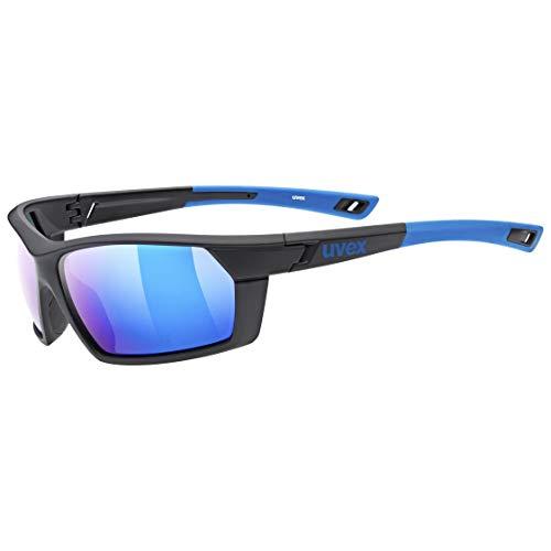 uvex Unisex– Erwachsene, sportstyle 225 pola Sportbrille, black blue, one size